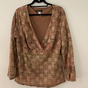I.N.C blouse with shiny lace